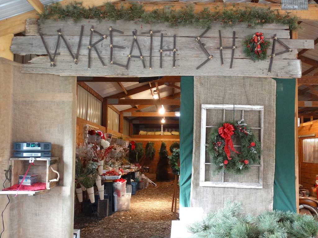 Christmas Tree Farm Wreath Shop