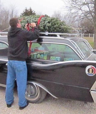 Antique Car For Hauling Christmas Tree