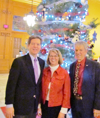 Christmas Tree Presented To Kansas Governor