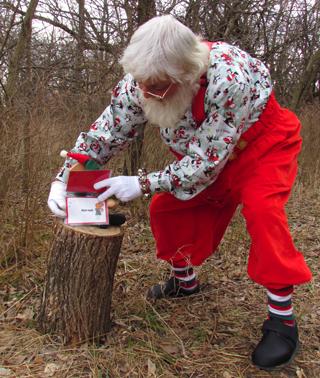 Santa On Elf Trail